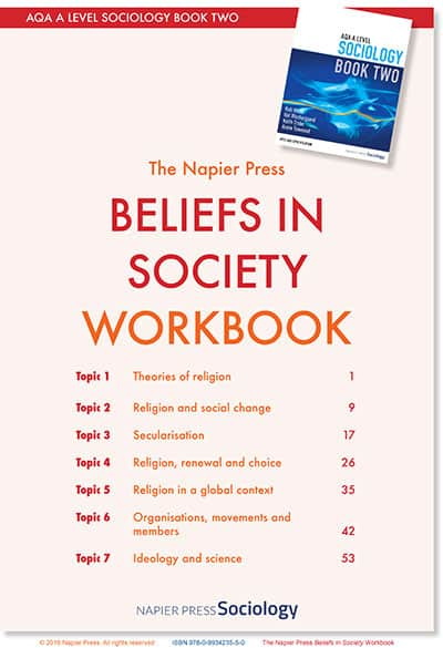 BELIEFS IN SOCIETY WORKBOOK